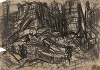 demolition of ymca building, london, no. 2 by leon kossoff