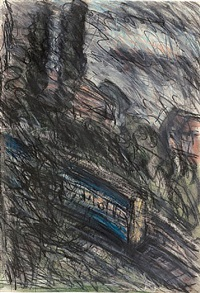train by night no. 1 by leon kossoff