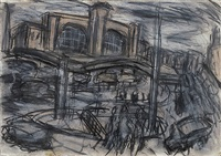 king's cross stormy day no. 1 by leon kossoff