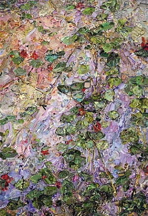 pictures of magazine 2: nasturtiums, after gustave caillebot by vik muniz
