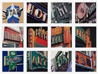 american signs (portfolio of 12) by robert cottingham