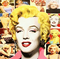 pop marilyn collage (white border) by steve kaufman