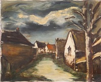 maisons au bord de l'eau by maurice de vlaminck