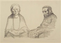 the parents by käthe kollwitz