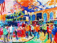 american stock exchange by leroy neiman