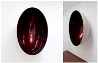 untitled (apple red) by anish kapoor