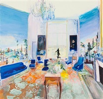 malouiniere with blue chairs by jane irish