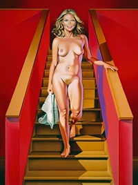 nude descending a staircase #2 by mel ramos
