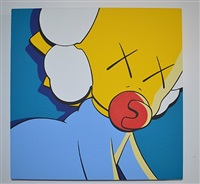 untitled (kimpsons), package painting series by kaws