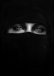 untitled (burqa) by robert longo