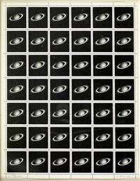 saturn stamps by vija celmins