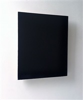 black painting by joseph marioni