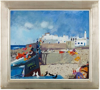 essaouira from the harbour by christine a. woodside