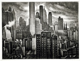 soaring new york by howard norton cook