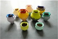 colored vase (9 vases) by ai weiwei
