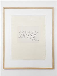 sappho by cy twombly