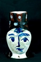 painted face pitcher by pablo picasso
