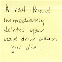 deletes your hard drive post it by tanja alexia hollander