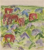 rote pferde by philipp bauknecht