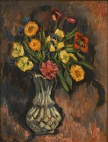 vase of flowers by marsden hartley
