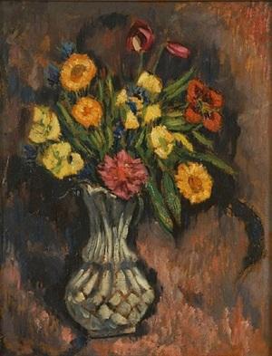 vase of flowers by marsden hartley