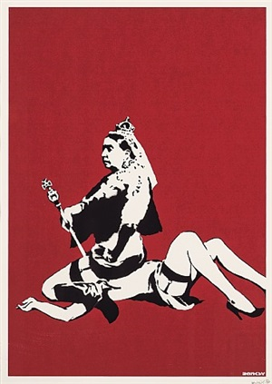 queen victoria (signed) by banksy