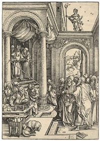 mariens tempelgang – the presentation of the virgin in the temple by albrecht dürer