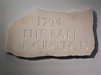 1794 the fall of croton by ian hamilton finlay