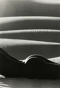 nu aux dunes, death valley by lucien clergue
