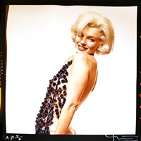 the lost sitting: marilyn monroe with chenile scarf by bert stern