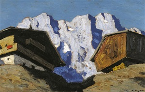 houses in the mountains by alfons walde