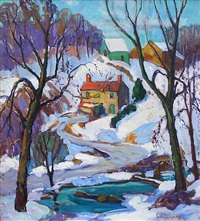 cobb's creek winter by fern isabel coppedge