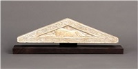sketch model for a pediment by gaston lachaise
