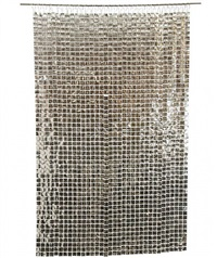 silver paco rabanne space curtain by paco rabanne