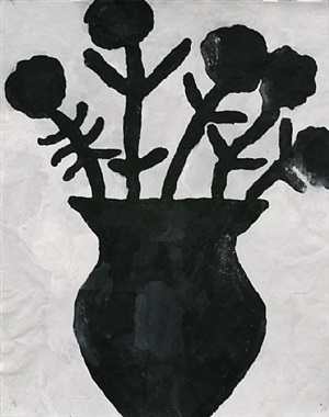 black flowers by donald baechler