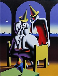 night of the bookies by mark kostabi