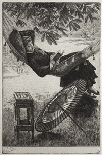 l'hamac (the hammock) by james jacques joseph tissot