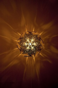 gold cakra lamp by choe u-ram