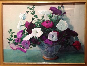 flowers in a pot - petunias by jane peterson