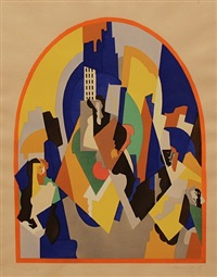 decoration pour la gare de moscou by albert gleizes