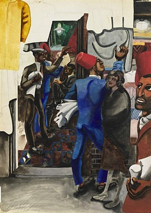 clothes shop, harlem by edward burra
