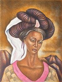 muchacha de cuetzalan by raúl anguiano