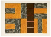 yellow ascending by sean scully