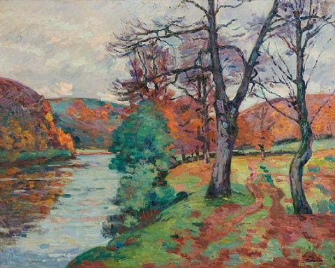 le roche de l'echo, creuse by armand guillaumin