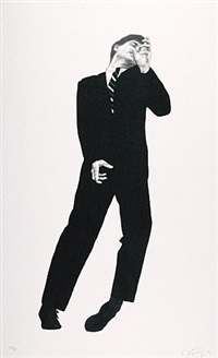 study of dave (from men in the cities) by robert longo