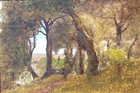 olives, albano, italy by george inness