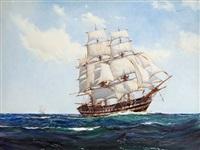 the clipper h.m.s. albion by montague dawson