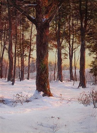 the pine grove by walter launt palmer