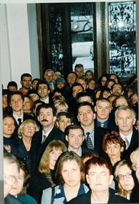 anti-collage (crowd) by goshka macuga