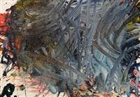 fingermalerei - hellblau by arnulf rainer